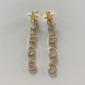"""""""JESS"""" Crystal Drop Earrings"""